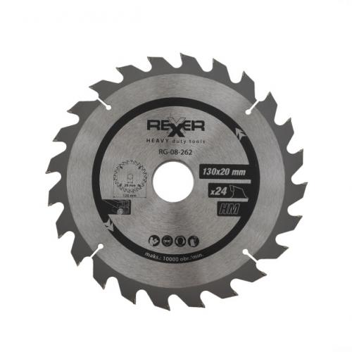 Циркулярен диск за дърво HM материал REXXER RG-08-262 - 130 / 20 / 24 зъба