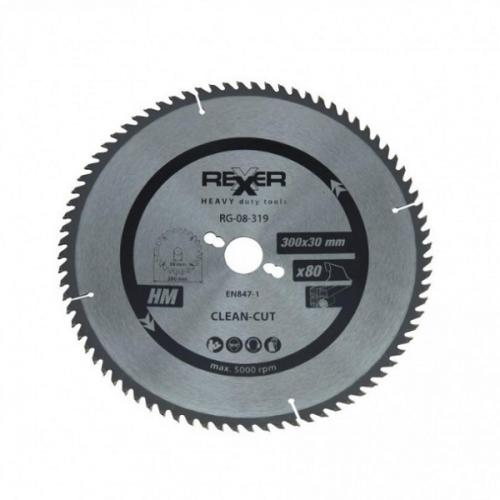 Циркулярен диск за дърво HM материал Rexxer RG-08-319 - 300 / 30 / 80 зъба