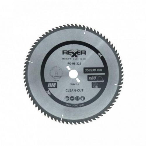 Циркулярен диск за дърво HM материал Rexxer RG-08-325 - 350 / 30 / 80 зъба