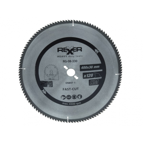 Циркулярен диск  HM материал Rexxer RG-08-330 - 400 / 30 / 120 зъба