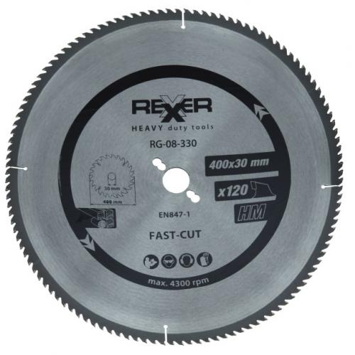 Циркулярен диск за алуминий  HM материал Rexxer RG-08-330 - 400 / 30 / 120 зъба