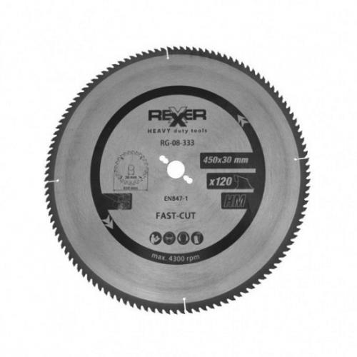 Циркулярен диск за алуминий HM материал Rexxer RG-08-333 - 450 / 30 / 120 зъба