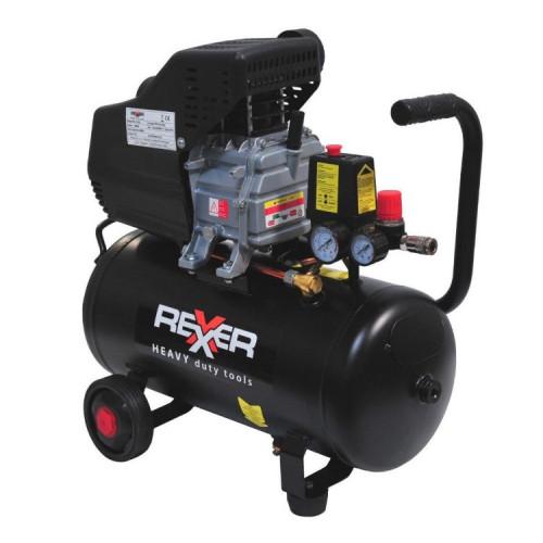 Маслен компресор REXXER  8BAR / 1,5HP / 24Л + аксесоари 5 бр.