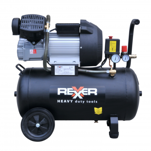 Маслен компресор с две глави Rexxer RH-13-508 8 bar / 3 hp / 50 l