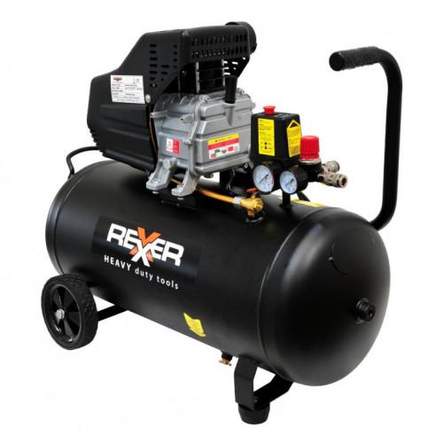Маслен компресор REXXER  8BAR / 1,5HP / 50Л + аксесоари 5 бр.