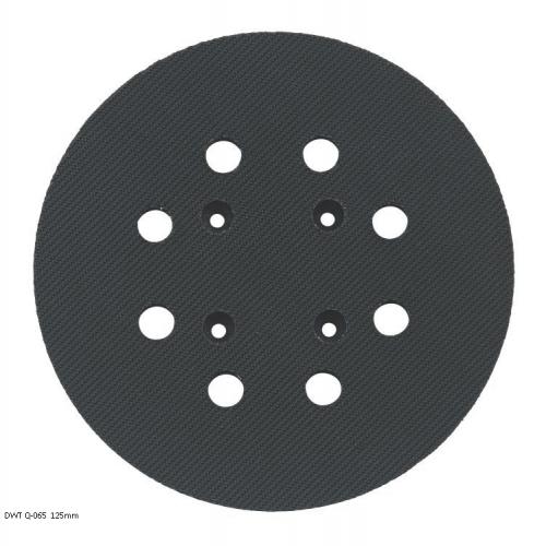 Велкро плоча кръгла 125мм DWT Q-065