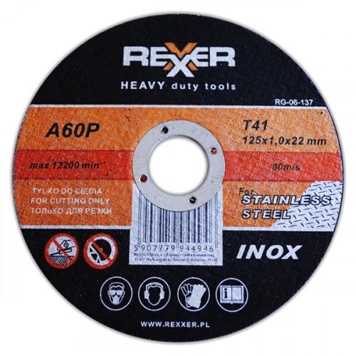 Диск Инокс REXXER RG-06-136 - 115 x 1.0 x 22 мм  10 бр.