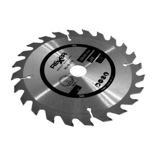 Циркулярен диск за дърво HM материал REXXER RG-08-270 - 160 / 20 / 24 зъба