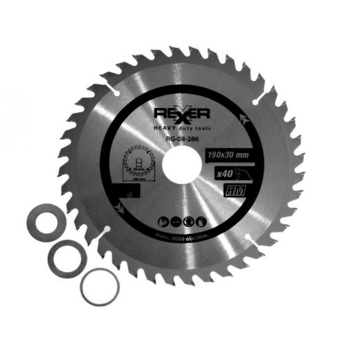 Циркулярен диск за дърво HM материал REXXER RG-08-286 - 190 / 30 / 40 зъба