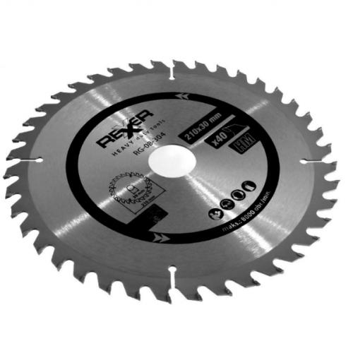 Циркулярен диск за дърво HM материал REXXER RG-08-304 - 210 / 30 / 40 зъба