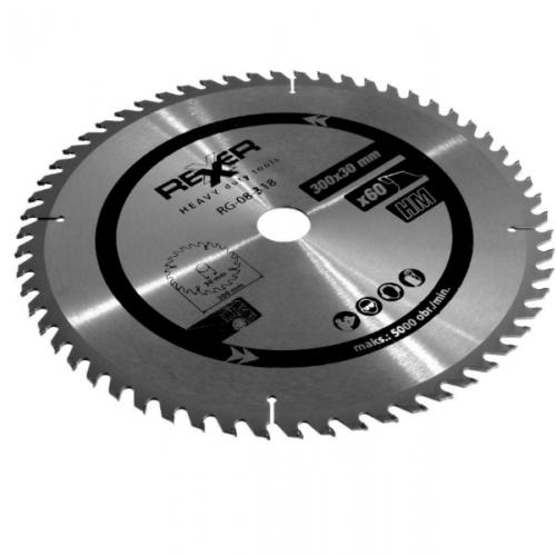 Циркулярен диск за дърво HM материал Rexxer RG-08-318 - 300 / 30 / 60 зъба