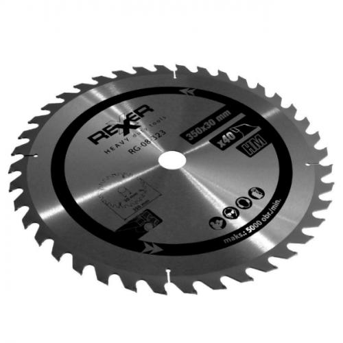 Циркулярен диск за дърво HM материал REXXER RG-08-323 - 350 / 30 / 40 зъба