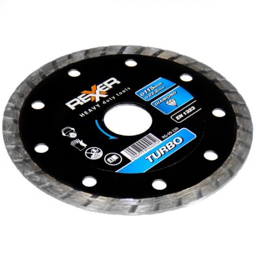 Диамантен диск REXXER TURBO (универсален) 115 мм RG-09-239