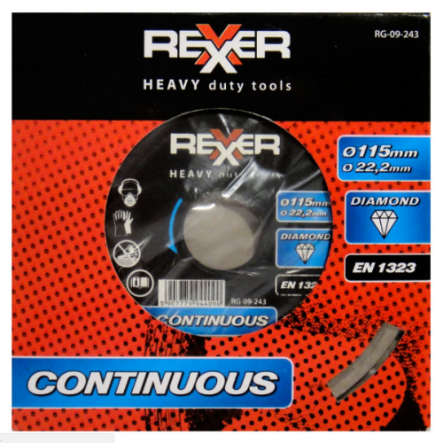 Диамантен диск REXXER за водно рязане 115 мм RG-09-243