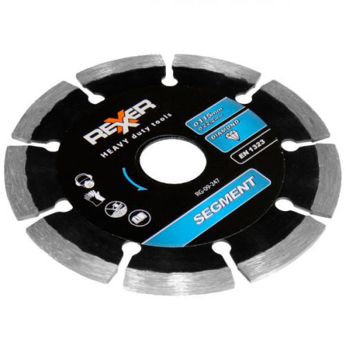 Диамантен диск REXXER SEGMENT (универсален) 115 мм RG-09-247